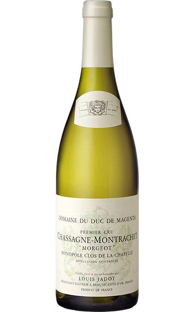 シャサーニュ モンラッシェ プルミエ クリュ 一級 モルジョ モノポール畑 クロ ド ラ シャペル ブラン 2017年 蔵出し限定品Chassagne Montrachet 1er Cru Morgeot Monopole Clos de la Chapelle Blanc 2017 Domaine Duc de Magenta (Domaine Louis Jadot)