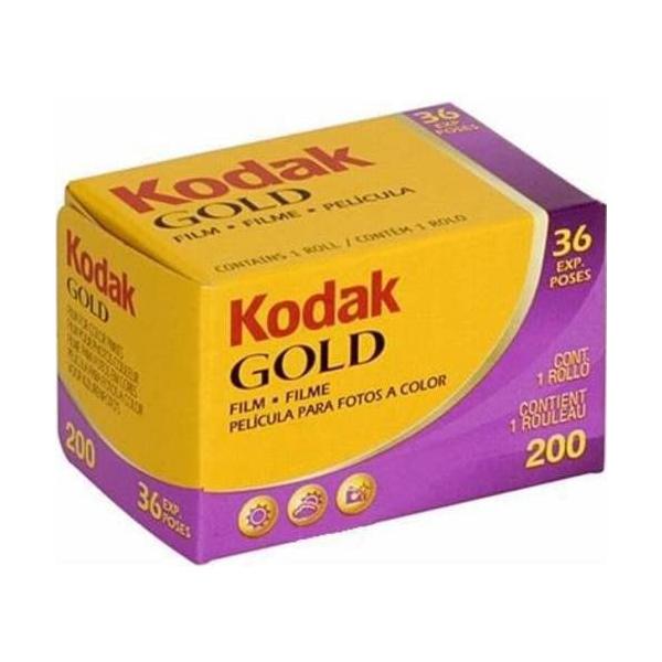感度200で彩度 色の正確さ シャープネスが優れたネガフィルム Kodak コダック カラーネガフィルム ゴールド 200 36枚撮 流行 36EX 単品 英文パッケージ 商い GOLD