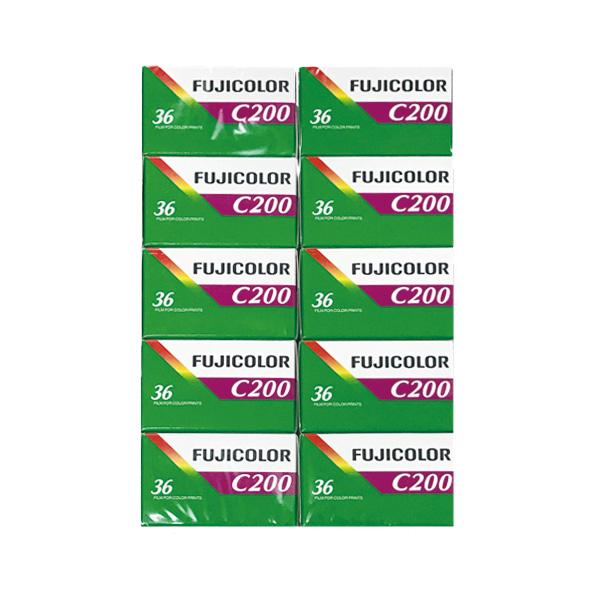 富士フイルム カラーネガフィルム FUJICOLOR C200 36枚撮り 英文パッケージ 10本