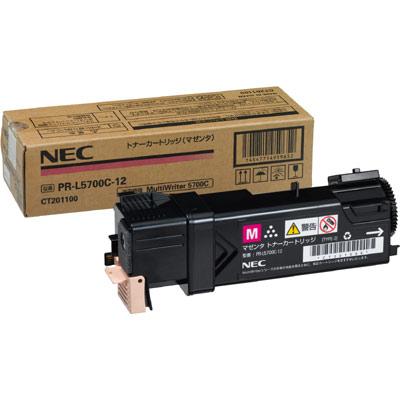 期間限定 PR-L5750C 再再販 カラーレーザープリンタ対応 受発注品 NEC マゼンタ 標準トナーカートリッジ PR-L5700C-12