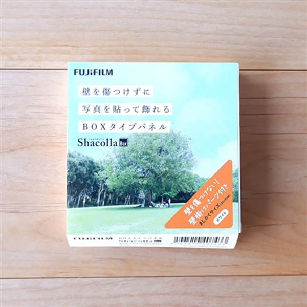 貼って壁に飾るだけで立体感のあるフォトスペースを演出 壁アルバム シャコラ 保証 2020 新作 ShacollaBOX ホワイト ましかく89 89×89mm 富士フイルム