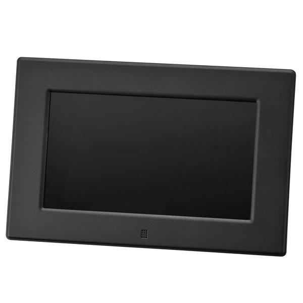 グリーンハウス 7型ワイド高解像度液晶搭載 7インチ デジタルフォトフレーム ブラック GH-DF7V-BK【送料無料】