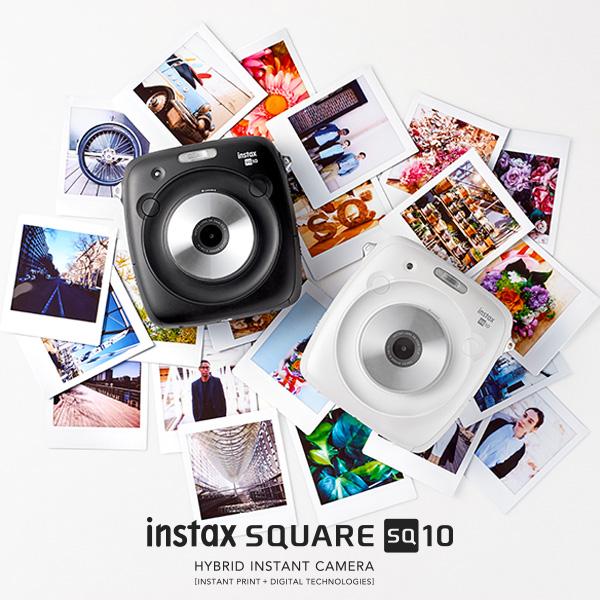 チェキ instax SQUARE SQ10 ブラック/ホワイト 本体 富士フイルム インスタントカメラ