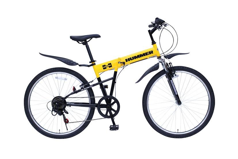 【送料無料】【受発注品】ミムゴ 26インチ 折りたたみ自転車 HUMMER FサスFD-MTB266SE イエロー MG-HM266E