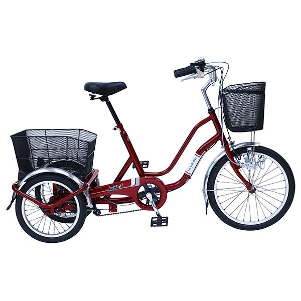 【送料無料】ミムゴ スイング機能付き 三輪自転車 SWING CHARLIE 911 ノーパンク三輪自転車E ワインレッド MG-TRW20NE【受発注品】, マルトクショップ 8c0b751d