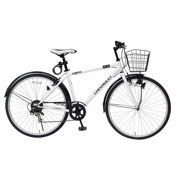 【送料無料】ミムゴ 700C クロスバイク CHEVROLET CROSSBIKE700C6SF ホワイト MG-CV7006F-RL【受発注品】【代引不可】