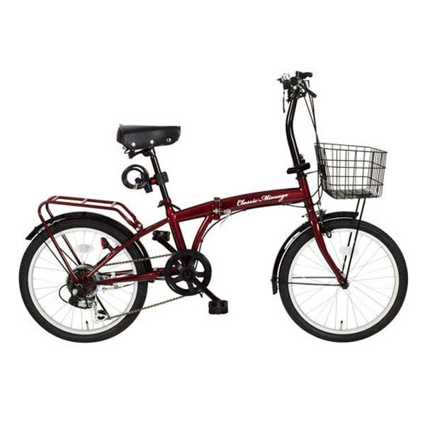 【送料無料】ミムゴ 20インチ 折りたたみ自転車 Classic Mimugo FDB206S-OP クラシックレッド MG-CM206【受発注品】【代引不可】