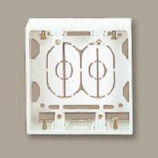 【受発注品】マサル工業 ニュー・エフモール用 露出ボックス 2個用 浅型 SFBA22 ホワイト 20個入