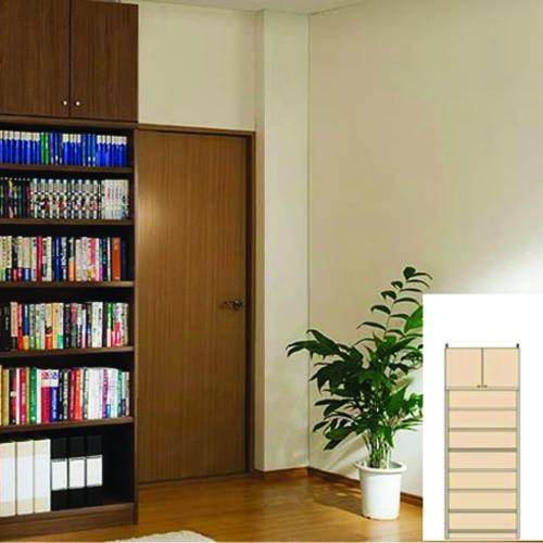 薄型壁面ラック 薄型本棚 扉付き書棚 M3 【オーダー収納】ビデオ CDなどの収納に DIY 薄型壁面ラック 奥行19cm高さ226~235cm幅60~70cm 標準棚板(厚さ1.7cm) 薄型壁面ラック