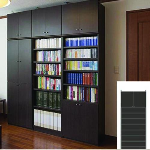 薄型 本棚 つっぱり収納 幅広壁面本棚 UX 壁面本棚 薄型本棚 簡単リフォーム 高さ250~259cm幅81~90cm奥行19cm厚棚板(耐荷重30Kg) タフ棚板(厚さ2.5cm) 薄型本棚