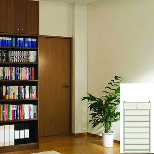 大容量リビング収納 書類本棚 壁面本棚 M3 【オーダー収納】教科書 ファイルなどの収納に リフォーム材料 大容量リビング収納 奥行40cm高さ208~217cm幅81~90cm タフ棚板(厚さ2.5cm) 大容量リビング収納