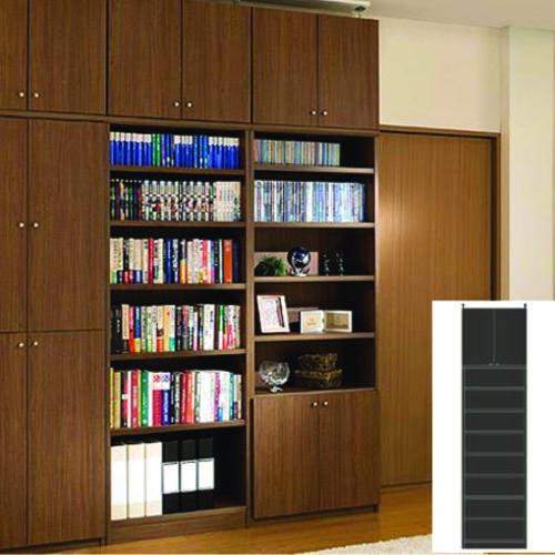壁面収納 オーダー壁収納 ファイル本棚 G2 【オーダー本棚】本 付録などの収納に リフォーム材料 つっぱり書棚 高さ283.1~292.1cm幅45~59cm奥行40cm 標準棚板(厚さ1.7cm)