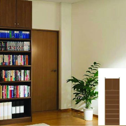 薄型 本棚 壁面本棚 オフィス書庫 UX つっぱり本棚 薄型書棚 組立家具 高さ241~250cm幅45~59cm奥行46cm厚棚板(棚板厚2.5cm) タフ棚板(厚さ2.5cm) 薄型本棚