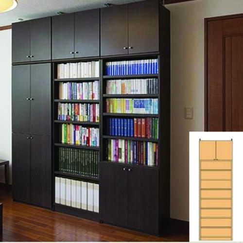 薄型 本棚 壁面本棚 オフィス壁収納 UX つっぱり本棚 薄型書棚 組立家具 高さ265.1~274.1cm幅60~70cm奥行46cm厚棚板(棚板厚み2.5cm) タフ棚板(厚さ2.5cm) 薄型本棚