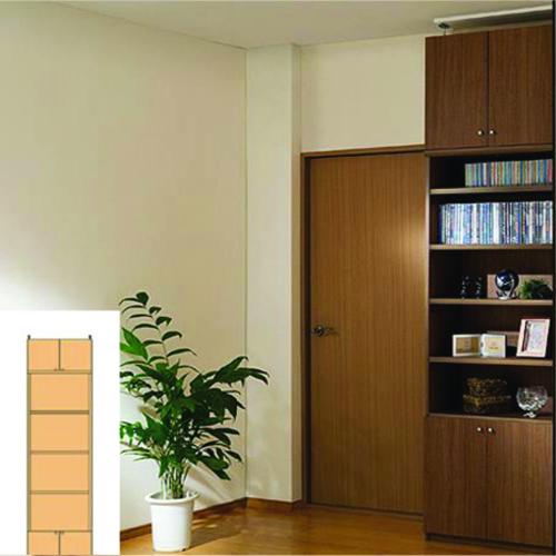 大容量本棚 A4本棚 つっぱり本棚 M2 【オーダー本棚】オーディオ ブルーレイなどの収納に 簡単リフォーム 大容量本棚 高さ250.1~259.1cm幅45~59cm奥行31cm 標準棚板(厚さ1.7cm)