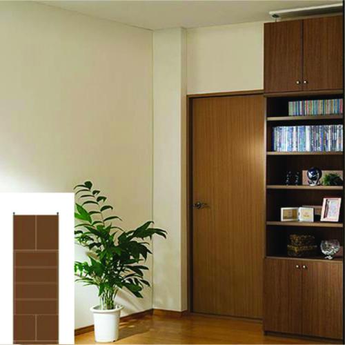 本棚 扉付き A4本棚 天井つっぱり壁面書庫 TX 転倒防止本棚 扉付収納 組立家具 高さ250~259cm幅60~70cm奥行31cm厚棚板(耐荷重30Kg) タフ棚板(厚さ2.5cm) 扉付本棚