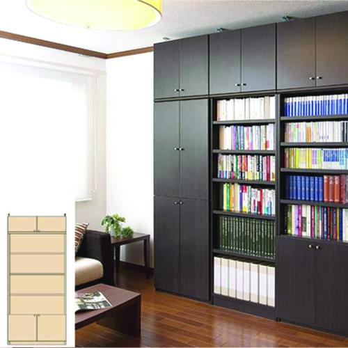 大容量書庫 書類書棚 木製書棚 M3 【オーダー書庫】書籍 シリーズ本などの収納に 簡単リフォーム 大容量書庫 奥行31cm高さ241~250cm幅81~90cm タフ棚板(厚さ2.5cm) 大容量書庫