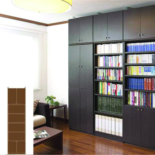 薄型 本棚 つっぱり収納 大容量書庫 UX 組み立て本棚 薄型本棚 簡単リフォーム 高さ283.1~292.1cm幅45~59cm奥行31cm 標準棚板(厚さ1.7cm) 薄型本棚