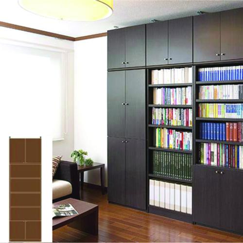 薄型 本棚 壁面本棚 大容量書庫 UX 壁面本棚 薄型書棚 DIY 高さ283.1~292.1cm幅60~70cm奥行31cm厚棚板(棚板厚2.5cm) タフ棚板(厚さ2.5cm) 薄型本棚