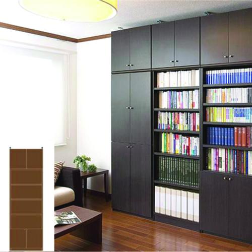 大型リビング壁収納 大型収納 突っ張り収納 M2 【オーダー書庫】教材 書籍などの収納に リフォーム材料 大型リビング壁収納 高さ265.1~274.1cm幅60~70cm奥行46cm 標準棚板(厚さ1.7cm)