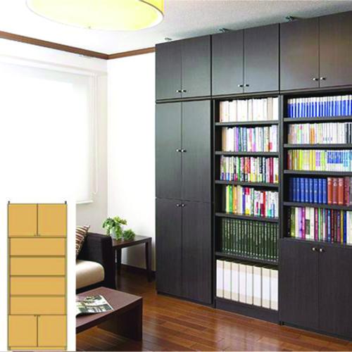 薄型 本棚 壁面収納 スリム壁面漫画本棚 UX 壁面本棚 薄型書棚 リフォーム材料 高さ274.1~283.1cm幅81~90cm奥行19cm厚棚板(耐荷重30Kg) タフ棚板(厚さ2.5cm) 薄型本棚