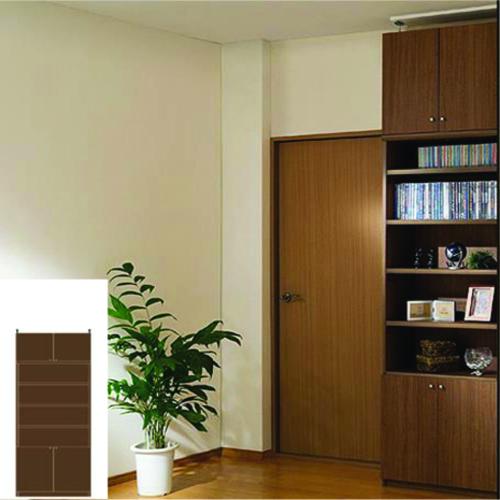 薄型 本棚 壁面本棚 天井つっぱり壁面書庫 UX 壁面本棚 薄型書棚 DIY 高さ217~226cm幅71~80cm奥行31cm厚棚板(耐荷重30Kg) タフ棚板(厚さ2.5cm) 薄型本棚