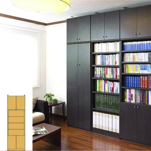 薄型 本棚 つっぱり収納 天井つっぱり壁面書庫 UX 突っ張り本棚 薄型書棚 リフォーム材料 高さ241~250cm幅45~59cm奥行31cm厚棚板(耐荷重30Kg) タフ棚板(厚さ2.5cm) 薄型本棚