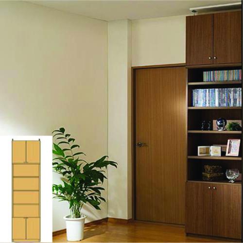 大容量壁面書庫 大容量収納 壁面固定書棚 M3 【オーダー収納】レコード 絵本などの収納に DIY 大容量壁面書庫 奥行31cm高さ274~283cm幅45~59cm 標準棚板(厚さ1.7cm) 大容量壁面書庫