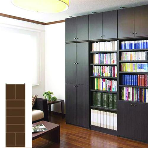 薄型 本棚 扉付き本棚 大型下扉付壁収納 UX 扉付本棚 薄型書棚 組立家具 高さ283.1~292.1cm幅60~70cm奥行46cm 標準棚板(厚さ1.7cm) 薄型本棚