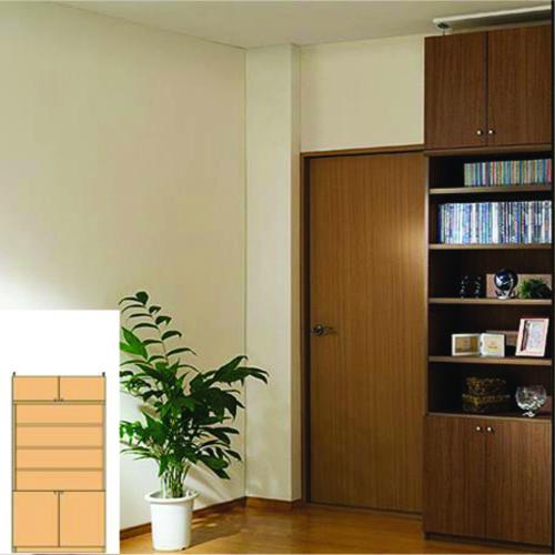 薄型 本棚 突っ張り本棚 薄型壁面DVD棚 UX つっぱり本棚 薄型書棚 簡単リフォーム 高さ208~217cm幅81~90cm奥行19cm厚棚板(棚板厚2.5cm) タフ棚板(厚さ2.5cm) 薄型本棚