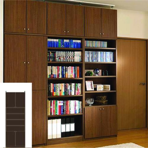 薄型本棚 薄型壁面DVD棚 雑貨書棚 O3 【オーダー書庫】DVD 教科書などの収納に 日曜大工 薄型壁面DVD棚 スリム本棚 奥行19cm高さ250~259cm幅60~70cm タフ棚板(厚さ2.5cm) 薄型本棚