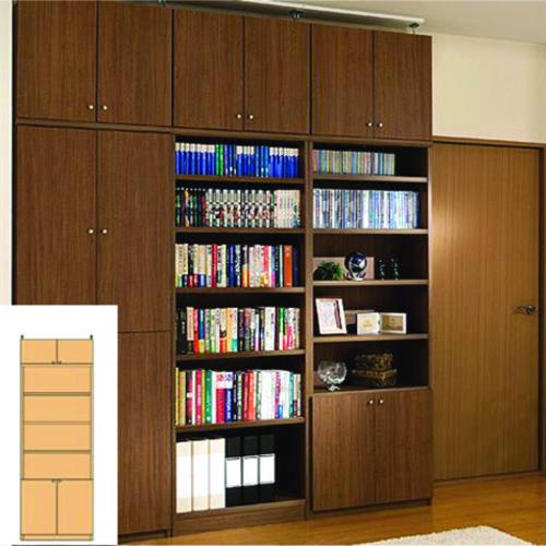 組み立て収納 スリム壁面DVD棚 薄型本棚 G2 【オーダー収納】レコード ファイルなどの収納に 組立家具 突っ張り収納 高さ241.1~250.1cm幅60~70cm奥行19cm 標準棚板(厚さ1.7cm)
