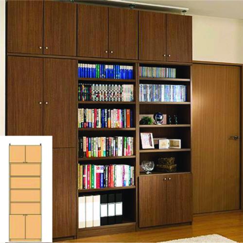 スリム壁面DVD棚 薄型本棚 突っ張り本棚 M2 【オーダー本棚】雑貨 教科書などの収納に 組立家具 スリム壁面DVD棚 高さ259.1~268.1cm幅60~70cm奥行19cm 標準棚板(厚さ1.7cm)