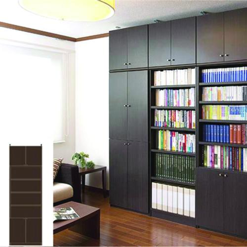 薄型 本棚 国産収納 スリム壁面DVD棚 UX 万能本棚 薄型本棚 簡単リフォーム 高さ265.1~274.1cm幅60~70cm奥行19cm 標準棚板(厚さ1.7cm) 薄型本棚