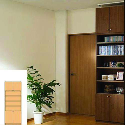 本書庫 天井つっぱり壁面収納 多目的本棚 S2 【オーダー本棚】マンガ CDなどの収納に 組立家具 ファイル書棚 高さ226~235cm幅60~70cm奥行31cm厚棚板(耐荷重30Kg) タフ棚板(厚さ2.5cm)