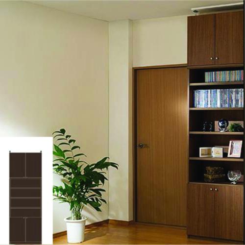 本棚 扉付き 大容量書棚 天井つっぱり壁面収納 TX 突っ張り本棚 扉付書庫 リフォーム材料 高さ250~259cm幅60~70cm奥行31cm厚棚板(棚板厚み2.5cm) タフ棚板(厚さ2.5cm) 扉付本棚