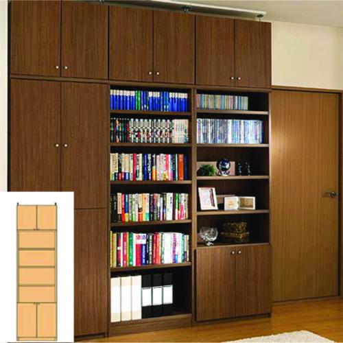 A4書庫 大容量収納 コミック本棚 O3 【オーダー書棚】レコード カタログなどの収納に 組立家具 大容量収納 大容量書庫 奥行31cm高さ259~268cm幅45~59cm タフ棚板(厚さ2.5cm) A4本棚