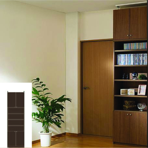 本棚 扉付き A3本棚 扉付深型壁面収納 TX 壁面本棚 扉付本棚 DIY 高さ250~259cm幅45~59cm奥行40cm 標準棚板(厚さ1.7cm) 扉付本棚