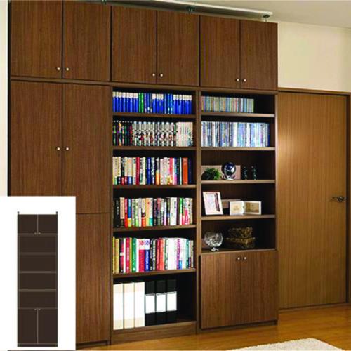本棚 扉付き 書類本棚 深型扉付き壁面収納 TX 転倒対策本棚 扉付本棚 簡単リフォーム 高さ250.1~259.1cm幅45~59cm奥行40cm厚棚板(耐荷重30Kg) タフ棚板(厚さ2.5cm) 扉付本棚