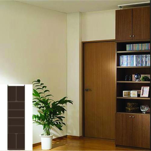 本棚 扉付き 大型収納 大型下扉付壁収納 TX 壁固定本棚 扉付書庫 リフォーム材料 高さ283.1~292.1cm幅45~59cm奥行46cm 標準棚板(厚さ1.7cm) 扉付本棚