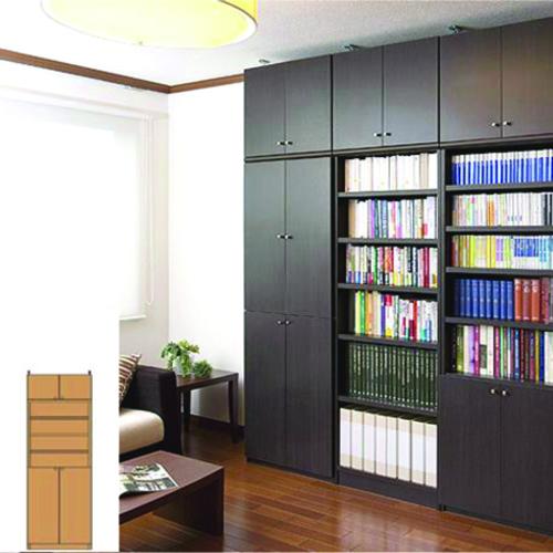 薄型 本棚 つっぱり本棚 天井つっぱり壁面書庫 UX 壁面本棚 薄型書棚 組立家具 高さ208~217cm幅45~59cm奥行31cm 標準棚板(厚さ1.7cm) 薄型本棚