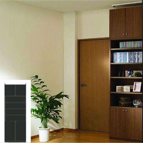 薄型 本棚 扉付き書棚 大容量書庫 UX 扉付本棚 薄型書庫 リフォーム材料 高さ265.1~274.1cm幅71~80cm奥行31cm厚棚板(棚板厚2.5cm) タフ棚板(厚さ2.5cm) 薄型本棚