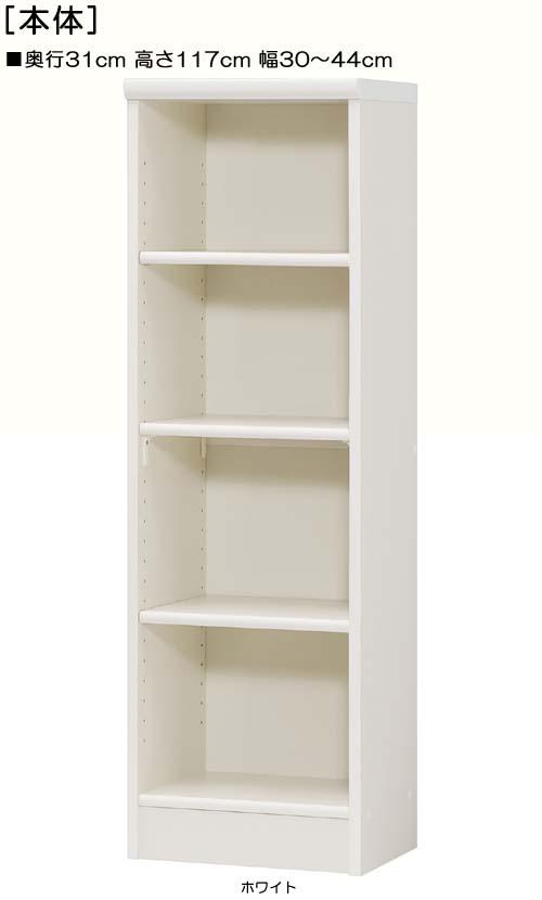 クローゼット 高さ117cm幅30~44cm奥行31cmコミック収納 待合室収納 幅を1cm単位でご指定 標準棚板家具 クローゼット