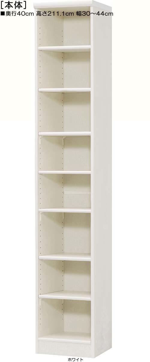 レターケース棚 高さ211.1cm幅30~44cm奥行40cmDVDディスプレイ 集会所本棚 ご希望の幅1cm単位で 標準棚板収納 レターケース棚