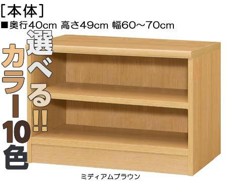 リビングボード 高さ49cm幅60~70cm奥行40cm厚棚板(耐荷重30Kg)コミック収納 勉強部屋ラック 幅1cm単位でオーダー たゆみにくい棚板棚 リビングボード
