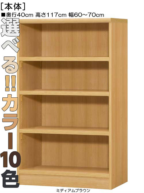 A4ファイル書庫 高さ117cm幅60~70cm奥行40cm厚棚板(耐荷重30Kg)コミック収納 ロビーラック 幅を1cm単位でご指定 丈夫な棚板棚 A4ファイル書庫