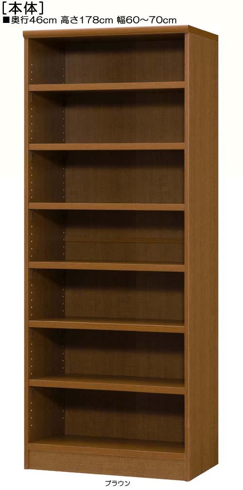 オフィス書庫 高さ178cm幅60~70cm奥行46cm厚棚板(棚板厚み2.5cm)DVDディスプレイ 図書室収納 幅オーダー1cm単位 タフ棚板家具 オフィス書庫