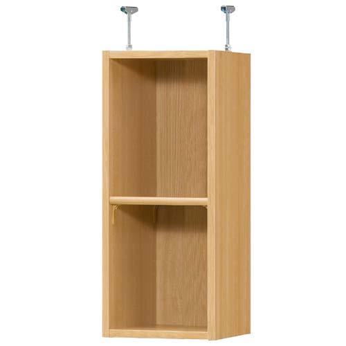 上置き棚 上棚(高さ調整可) 標準タイプ 高さ72~81cm幅25~29cm奥行29.5cm(本体奥行31cm用)空き箱棚 幅オーダー1cm単位 季節用品を保管 上置き棚