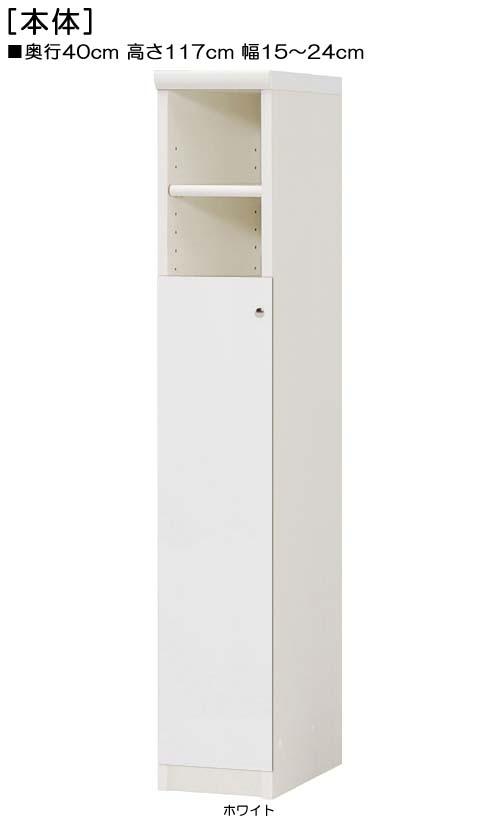下部扉台所スリム収納高さ117cm幅15~24cm奥行40cm片開き 扉高さ80.8cm 扉付玄関ボード 台所スリム収納