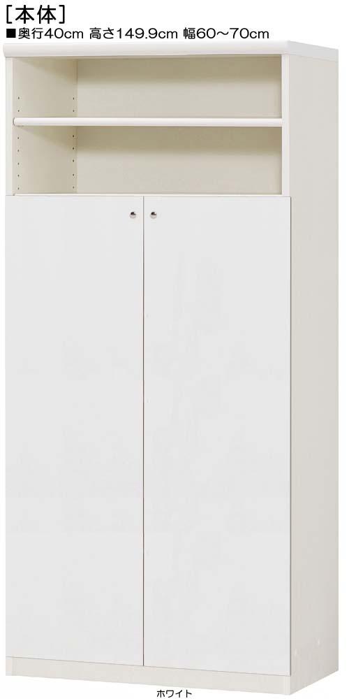 下部扉木製整理棚高さ149.9cm幅60~70cm奥行40cm両開き 扉高さ109.5cm 扉付事務所収納 木製整理棚